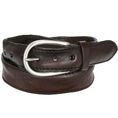 Leather Belt: Dark Brown