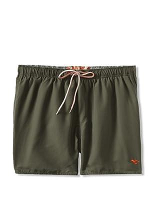Ted Baker Men's Shorrti Fashion Swim Trunks (Khaki)