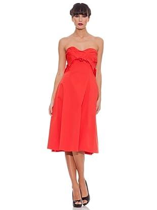 Victorio & Lucchino Vestido Zip (Rojo)