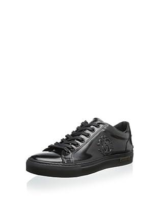 Roberto Cavalli Men's Dressy Leather Sole Sneaker (Black)