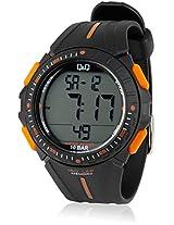 M102J002Y Black/Orange Digital Watch