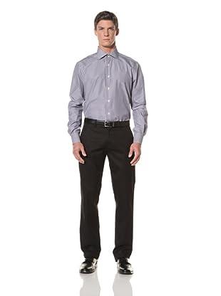 De Corato Men's Dress Shirt (Navy Blue Stripe)