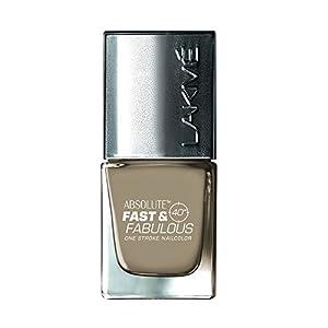 Lakme Fast & Fabulous Nail Color-Gold Caramel