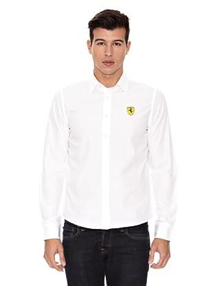 Ferrari Camiseta Long Sleeve (Blanco)