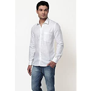 Turtle Solid White Formal Shirt