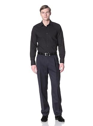 Hart Schaffner Marx Men's Pleated Trouser (Navy)