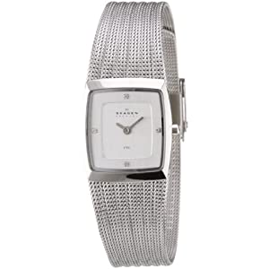 Skagen Analog White Dial Women's Watch - 380XSSS1