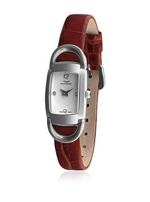 Sandoz 71592-00 - Reloj Diamonds Dial Piel Grabada Marrón