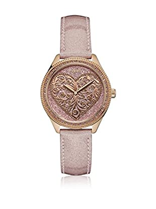 Guess Reloj con movimiento mecánico japonés Woman Love Rose Gold Tone