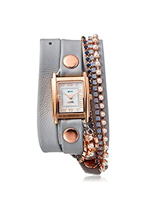 La Mer Collections Women's Cloud Grey/White Genuine Italian Leather Watch