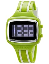 Activa By Invicta Unisex AA401-005 Watch with Green and White Band