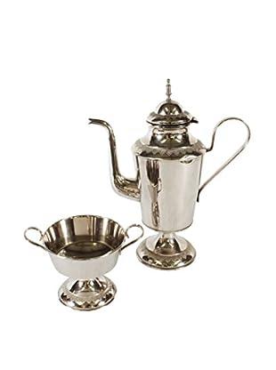 Herning Silver Plate Teapot & Sugar Bowl