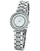 Giordano Analog Mother of Pearl Dial Women's Watch - 60053-11