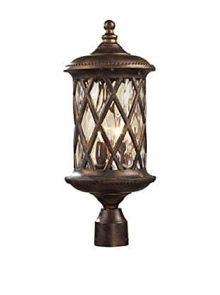 Elk 42034/2 2-Light Post Light In Hazelnut Bronze and Designer Water Glass