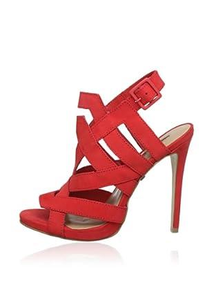 Buffalo London ZS 1536 NOBUCK 144828 - Zapatos con correa de tobillo de cuero  mujer (Rojo)