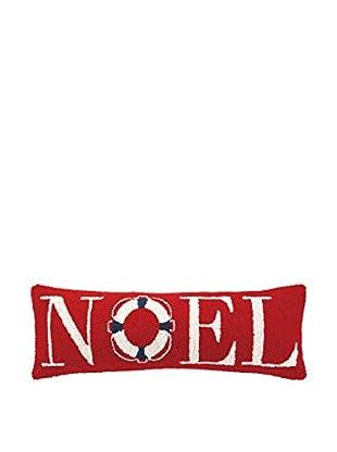 Peking Handicraft Noel Lifesaver Lumbar Pillow, Red/Blue