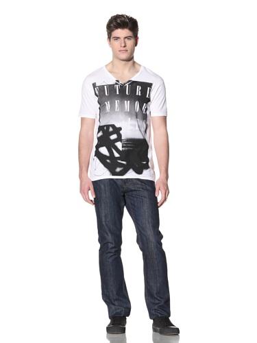 MG Black Label Men's Spray Graphic Tee (White)