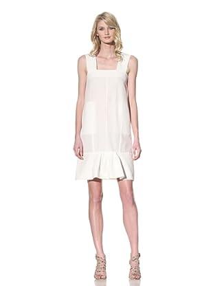 MARNI Women's Sleeveless Dress with Ruffled Trim (Blanc)