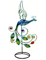 Beautiful Color Peacock with Multi Color Stone Earring Tree~Holder~Organize ~Jewelry Display