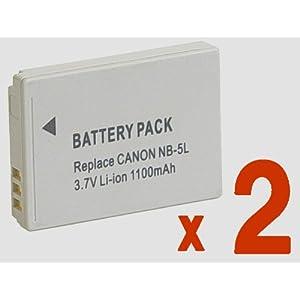 【クリックで詳細表示】Amazon.co.jp|『2個セット/残量表示付』 Canon NB-5L 互換 バッテリー の2個セット PowerShot S110 SX200 IS SX210 IS IXY DIGITAL 95 IS 等対応|カメラ・ビデオ通販