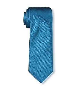 Rossovivo Men's Solid Tie, Petrol