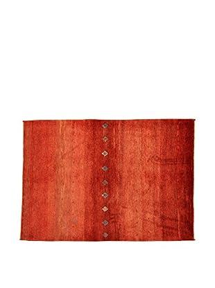Design Community By Loomier Teppich Gabeh Bushir rot 138 x 111 cm