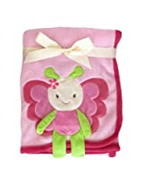 3D Butterfly Crib Throw Blanket