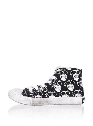 Diesel Kid's Melting Pot Passer Sneakers (Black/White)