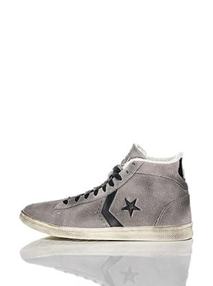 Converse Zapatillas Pro Leather (Gris / Negro)