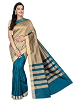 Korni Cotton Silk Banarasi Saree SHDEQ-307- Rama/Grey KR0484