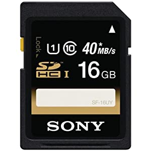 Sony 16GB SDHC/SDXC Class 10 UHS-1 R40 Memory Card (SF16UY/TQMN) (OLD MODEL)