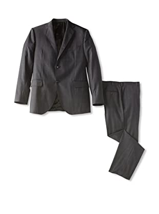 Lubiam Studio Men's Prince of Wales Suit (Charcoal)