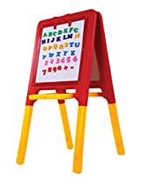 Playgro 2 Way Easel Board, Red/Yellow