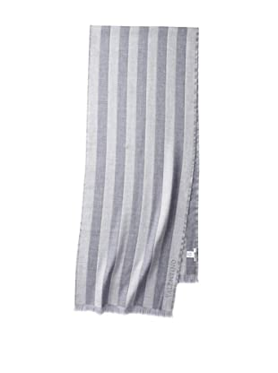 Valentino Women's Striped Wool Scarf, Light Grey