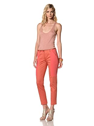 Thakoon Addition Women's Combo Seamed Slim Pant (Coral)