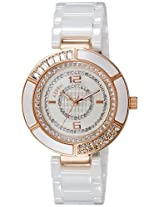 Aspen Ceramic Analog White Dial Women's Watch - AP1805