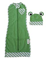 Woombie Animal Plus Hat Set, Green Froggy, Newborn 5-13 Lbs