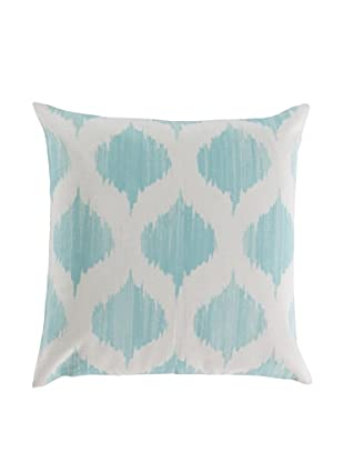 Surya Ikat Throw Pillow (Ivory/Mint)