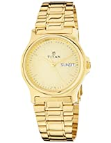 Titan Karishma Analog Gold Dial Men's Watch - NE390YM03