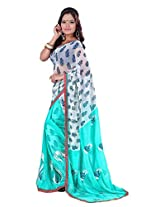 Shree Saree (2040_Sky Blue)