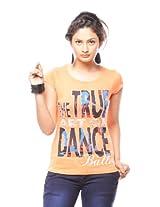 Trendy Girlz Women's Printed Melon T-Shirt