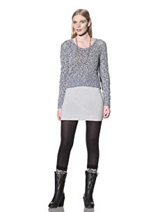 Mara Hoffman Women's Cropped Mesh Sweater (Cobalt)