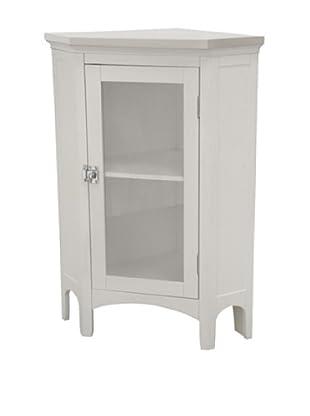Elegant Home Fashions Madison Avenue Corner Floor Cabinet, White