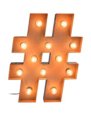 Surdic Panel Decorativo Luminoso Hashtag Light