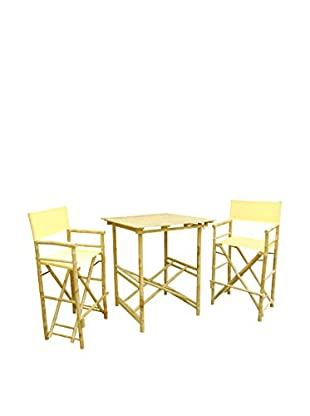 ZEW, Inc. High Table & Director Chair Set, Nude