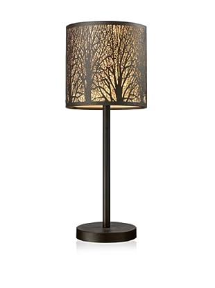Dimond Lighting Woodland Sunrise 1-Light Portable Lamp, Aged Bronze