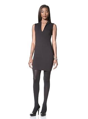 Catherine Malandrino Women's Sheath Dress with Open Back (Black)