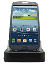C&E CNE04706 USB Sync and 2nd Battery Charge Cradle for Samsung Galaxy S3 - Non-Retail Packaging - Black