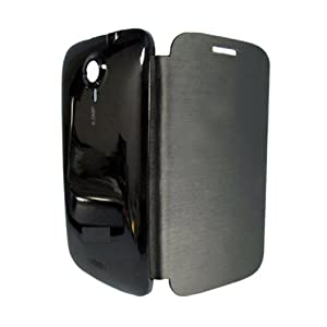 Callmate Flip Case Battery Cover Replaceable For Micromax A116 Canvas HD With Free Screen Guard- Black
