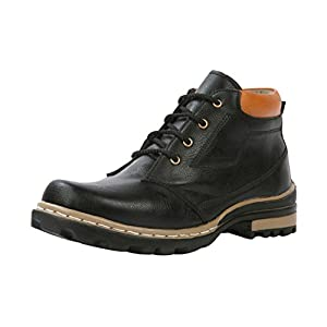 Bacca Bucci Men's 941 Black Leather Boots, 6 UK